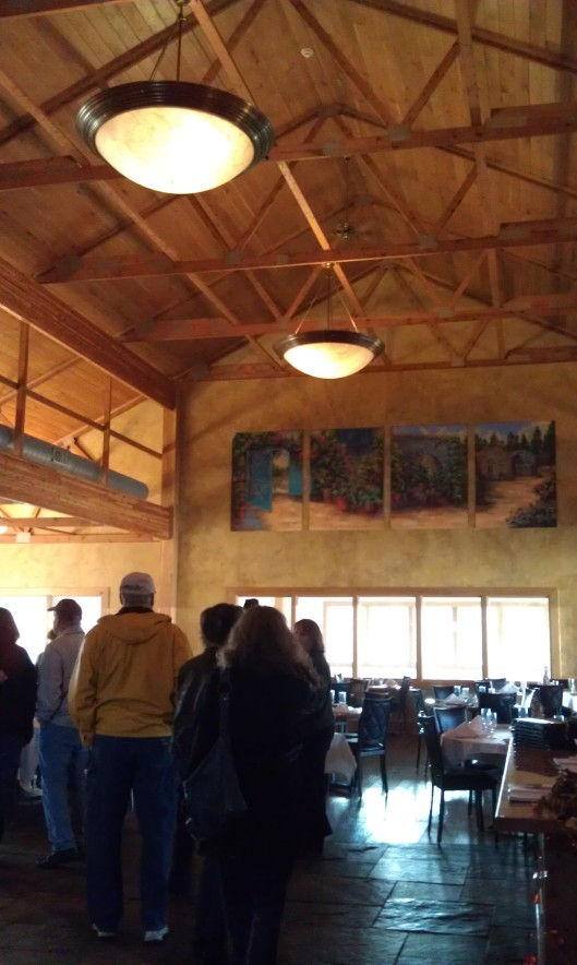 The tasting room and restaurant at Ertel Cellars Winery near Batesville, Indiana